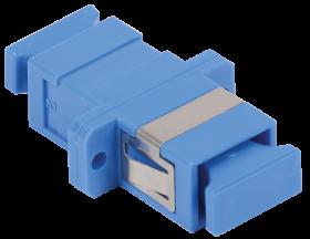 Адаптер проходной SC-SC для одномодового и многомодового кабеля (SM/MM) с полировкой UPC одинарного исполнения (Simplex)