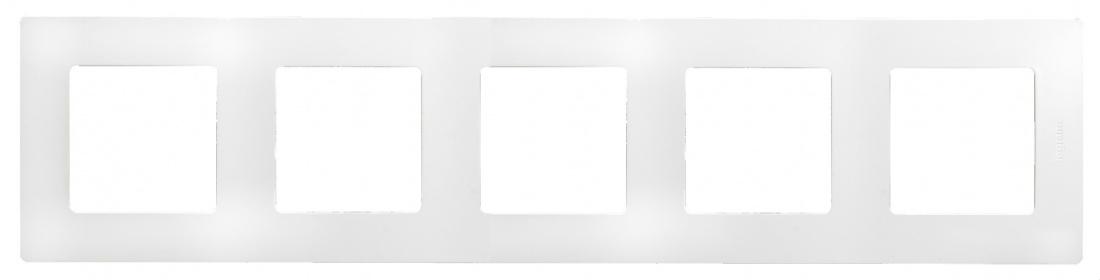 Рамка декоративная пятиместная универсальная (белая)