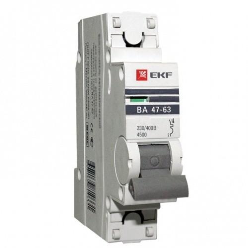 Автоматический выключатель EKF Proxima ВА 47-63 1P 4,5 кА 10А С