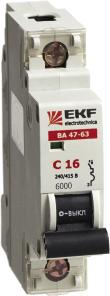 Автоматический выключатель EKF ВА 47-63, 1п (ЭКФ)/40А (С) 6кА