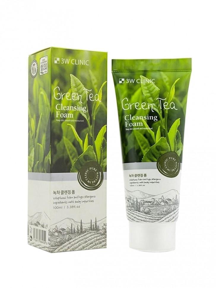 Пенка для умывания 3W Clinic Green Tea Cleansing Foam
