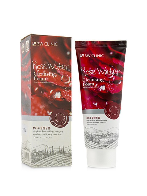 Пенка для умывания 3W Clinic Rose Water Cleansing Foam