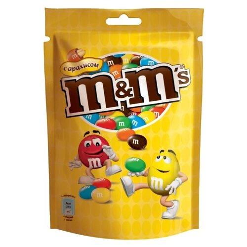 Драже M#and#M\'s Peanut в шоколадной глазури, с арахисом, 130 г