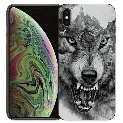 Чехол Gosso 729060 для Apple iPhone Xs Max волк в горах