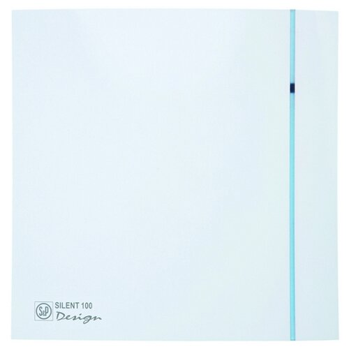 Вытяжной вентилятор Soler #and# Palau SILENT-100 CZ DESIGN, белый 8 Вт