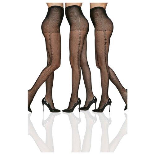 Колготки Le Cabaret 203269 40 den, размер 2-3, черный, 3 пары