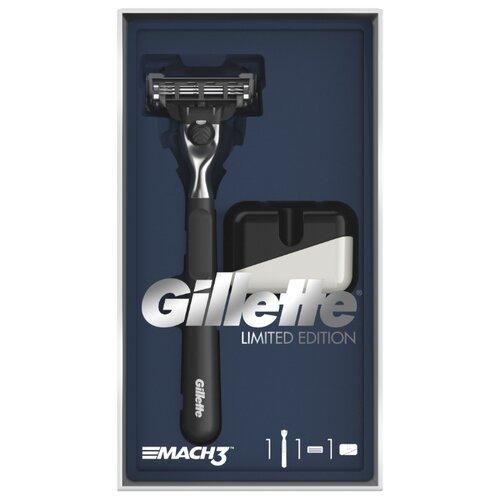 Набор Gillette подарочный: подставка, бритвенный станок Mach3