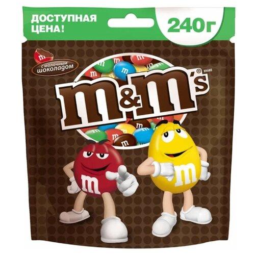 Драже M#and#M\'s Milk Chocolate с молочным шоколадом, 240 г