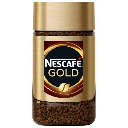 Кофе растворимый Nescafe Gold, стеклянная банка, 47.5 г