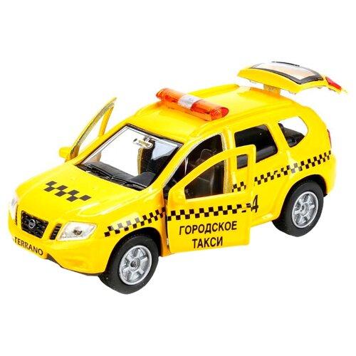 Легковой автомобиль ТЕХНОПАРК Nissan Terrano Такси (SB-17-47-NT(T)-WB) 12 см желтый