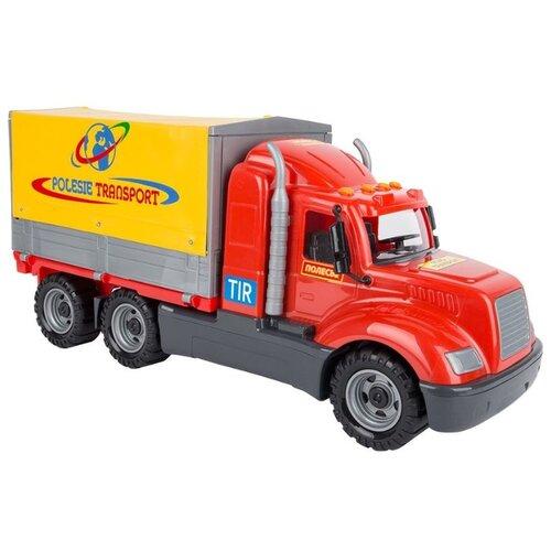 Фургон Wader Майк с тентом (55552) 53 см красный/желтый