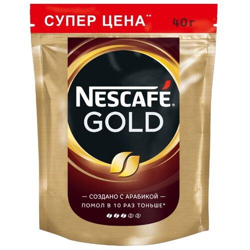 Кофе растворимый Nescafe Gold, пакет, 40 г