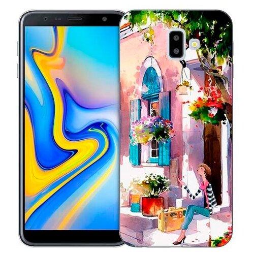 Чехол Gosso 731060 для Samsung Galaxy J6+ (2018) девочка на цветущей улочке