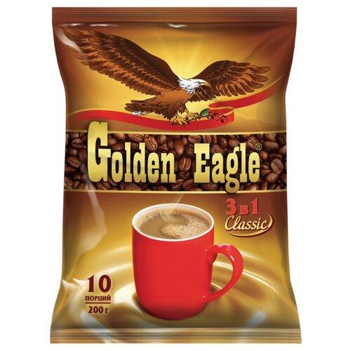 Растворимый кофе Golden Eagle 3 в 1 Classic, в пакетиках (10 шт.)