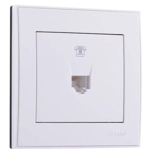 Розетка для интернета / телефона RJ11 Lezard Mira 701-0202-137, белый