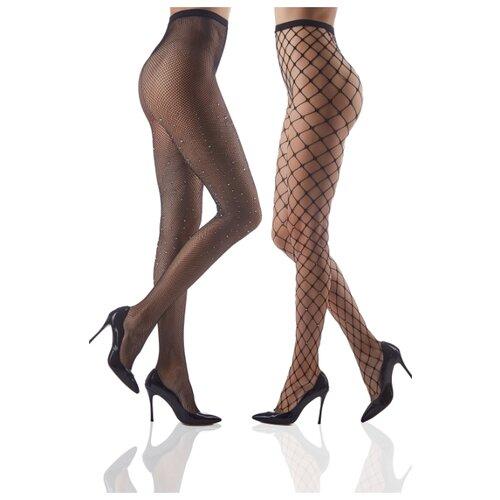 Колготки Le Cabaret 202270 40 den, размер 2-3, черный, 2 пары