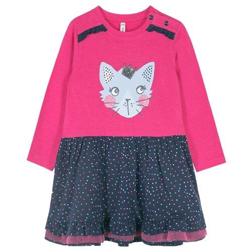 Платье COCCODRILLO LITTLE REBEL размер 74, розовый/черный