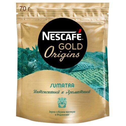Кофе растворимый Nescafe Gold Origins Sumatra, пакет, 70 г
