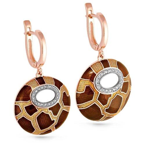 Серьги с 36 бриллиантами из красного золота 12-0900-1001