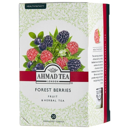 Чай красный Ahmad tea Healthy#and#Tasty Forest berries в пакетиках, 20 шт.