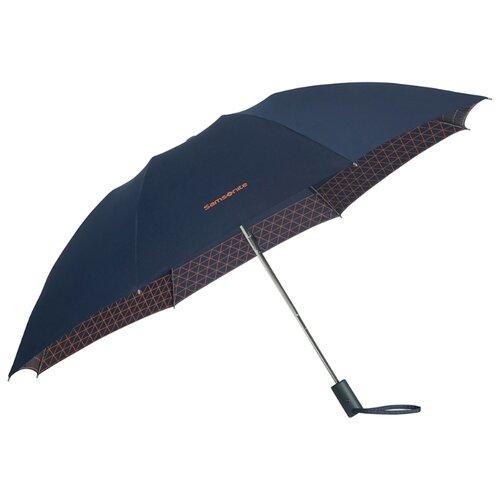 Зонт автомат Samsonite Up Way (8 спиц, большая ручка) asphalt grey/ yellow