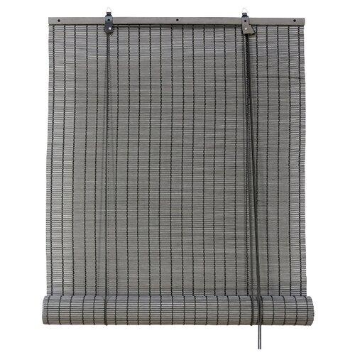 Рулонная штора Эскар бамбуковые (серый), 80х160 см