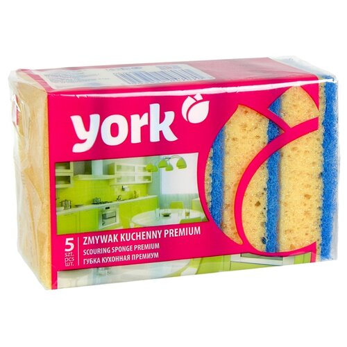 Губки для посуды YORK Премиум 5 шт