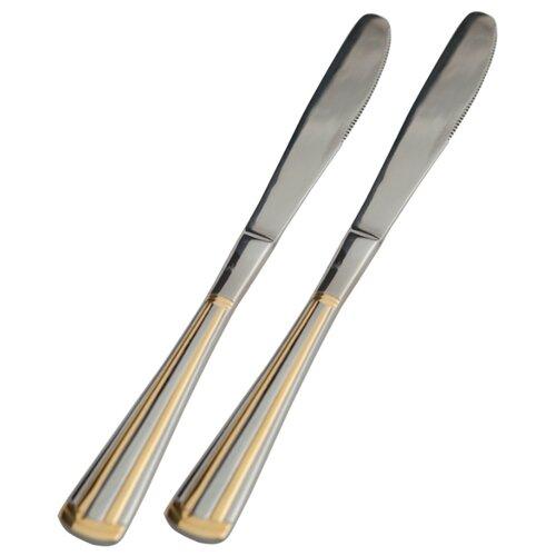 Набор столовых ножей Venice gold 2 предмета серебристый / золотистый