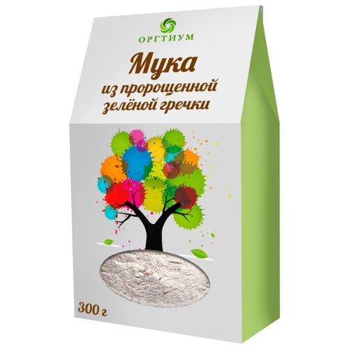 Мука Оргтиум экологическая из пророщенной зеленой гречки, 0.3 кг