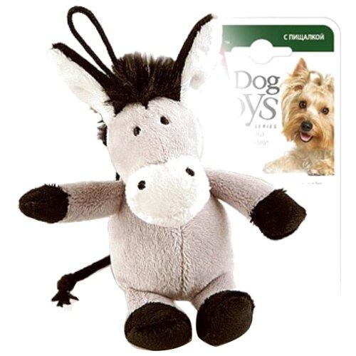Игрушка для собак GiGwi Dog Toys Ослик (75104) серый/коричневый