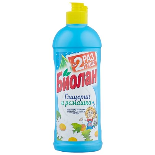 Биолан Средство для мытья посуды Глицерин и ромашка 0.45 кг