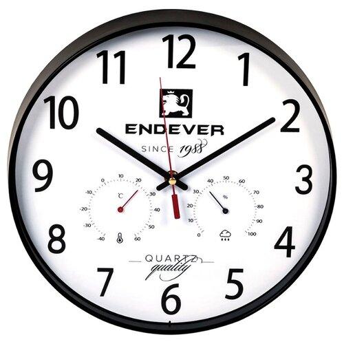 Часы настенные кварцевые ENDEVER RealTime-113 черный / белый