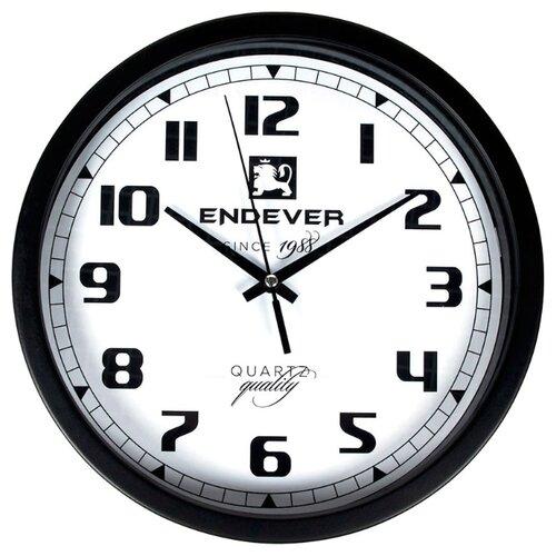 Часы настенные кварцевые ENDEVER RealTime-111 черный / белый
