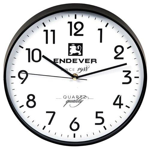 Часы настенные кварцевые ENDEVER RealTime-112 черный / белый