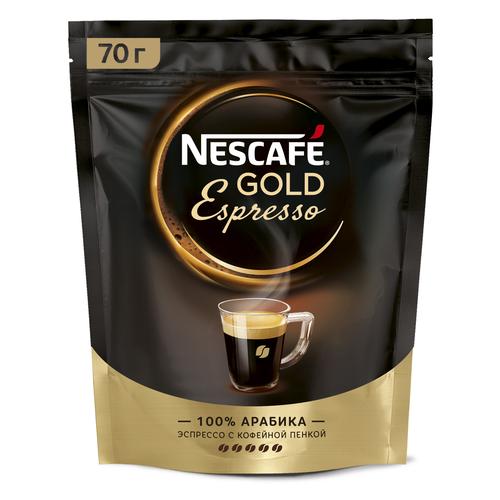 Кофе растворимый Nescafe Gold Espresso с пенкой, пакет, 70 г