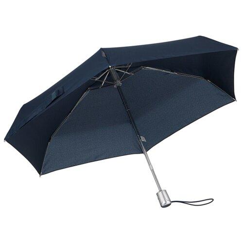 Зонт автомат Samsonite Alu Drop S (6 спиц, большая ручка) синий