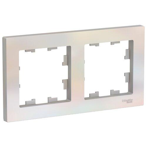 Рамка 2п Schneider Electric AtlasDesign ATN000402, жемчуг
