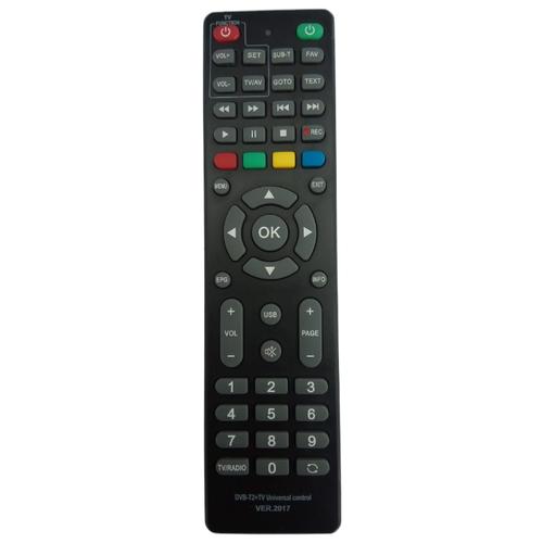 Универсальный пульт ДУ Huayu HOB1435 к DVB-T2+TV приставкам черный
