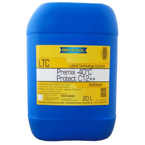Антифриз Ravenol LTC - Protect C12++ Premix -40°C 20 л