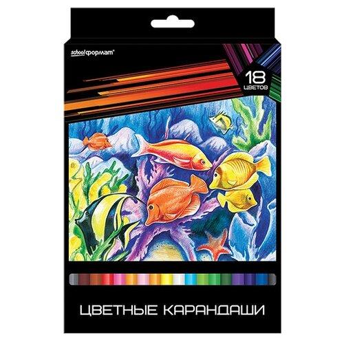 Формат Набор цветных карандашей 18 цветов Дикая планета (КЦ18-ДП)