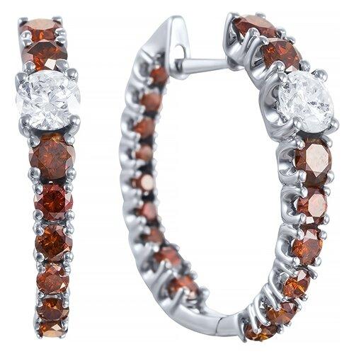 Серьги с 36 бриллиантами из красного золота AAS-3832E-SR-DC-PINK
