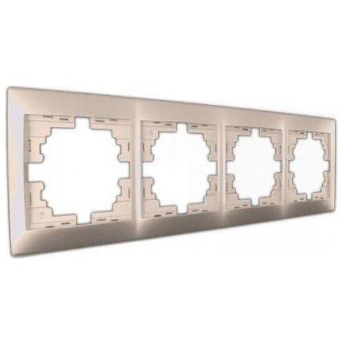 Рамка 4п Lezard 701-3000-149, жемчуг