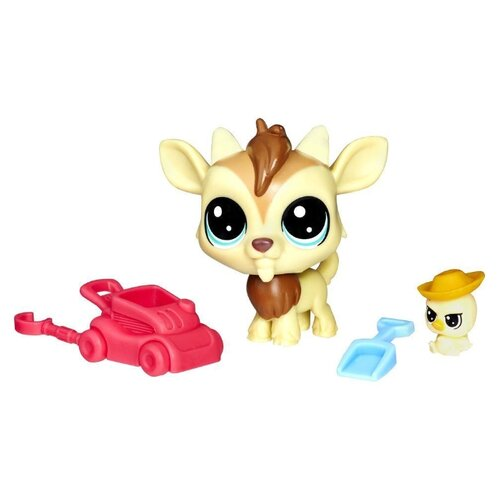 Игровой набор Littlest Pet Shop Квинси Гоути и Чиклес Скреппер E0464