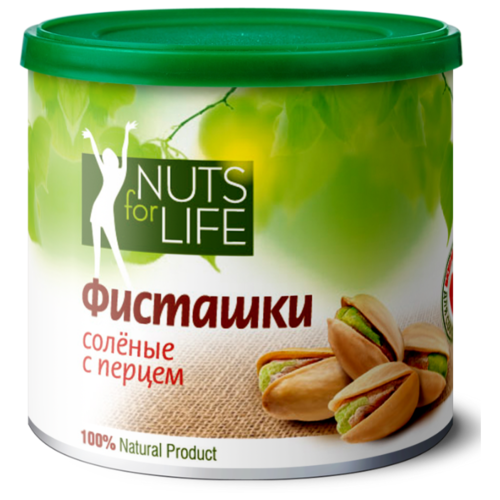 Фисташка Nuts for Life обжаренная соленая с перцем 100 г