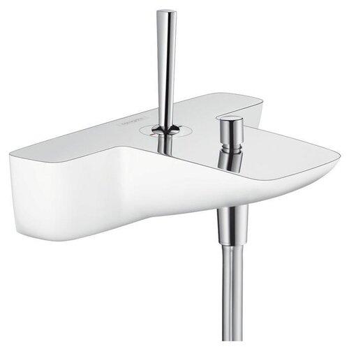 Смеситель для ванны с душем hansgrohe Pura Vida 15472400 однорычажный двухцветный хром/белый