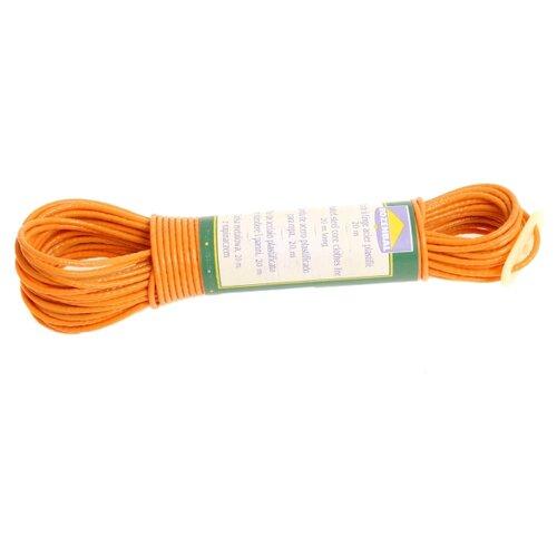Бельевой шнур пластиковый с фиксатором 20 м оранжевый