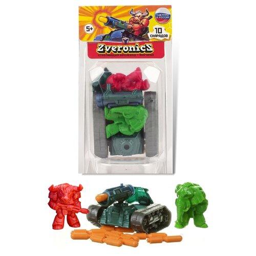 Игровой набор Технолог Zveronics № 3 с бронеходом зелено-красный 786
