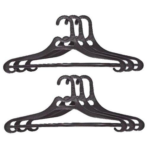 Вешалка ПОЛИМЕРБЫТ Набор для верхней одежды 52-54 черный