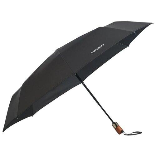 Зонт автомат Samsonite Wood Classic S (8 спиц, большая ручка) черный