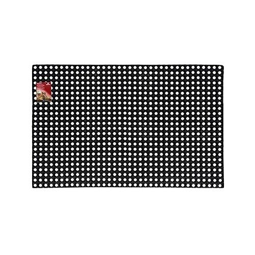 Придверный коврик VORTEX Ячеистый грязесборный, размер: 1.5х1 м, черный